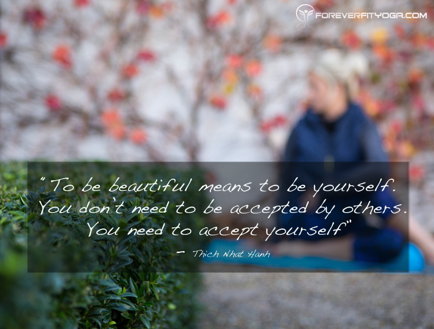 Yoga Quotes - Accept Yourself